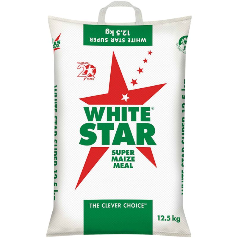 WHITE STAR SUPER MAIZE MEAL (POLY WOVEN BAG) – 12.5K
