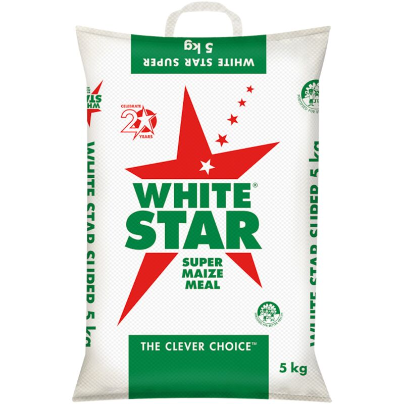 WHITE STAR SUPER MAIZE MEAL (POLY WOVEN BAG) – 5KG