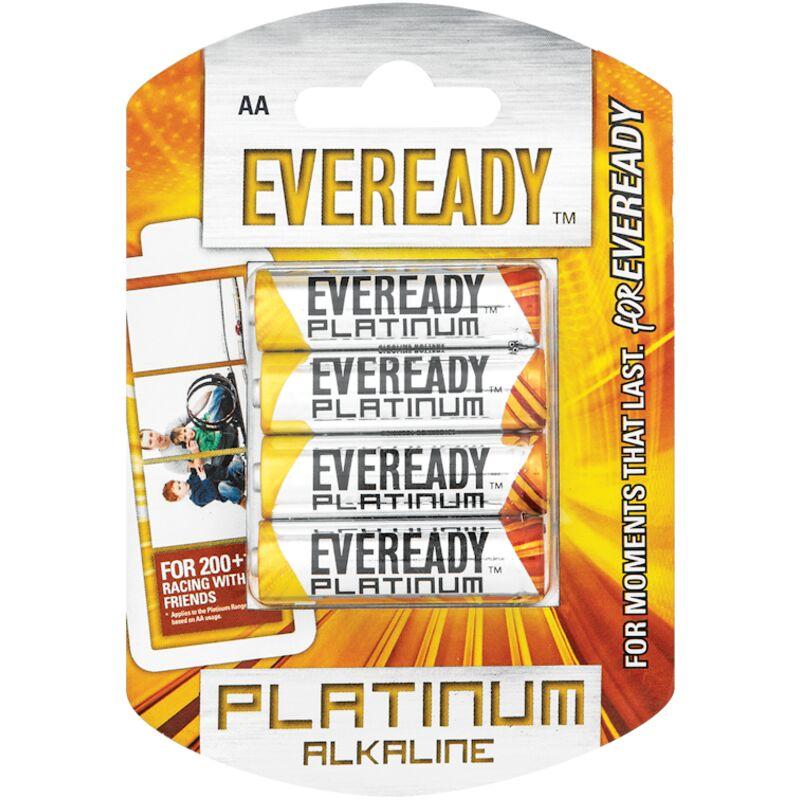 EVEREADY PLATINUM ALKALINE AA LR6 BP4 – 4S