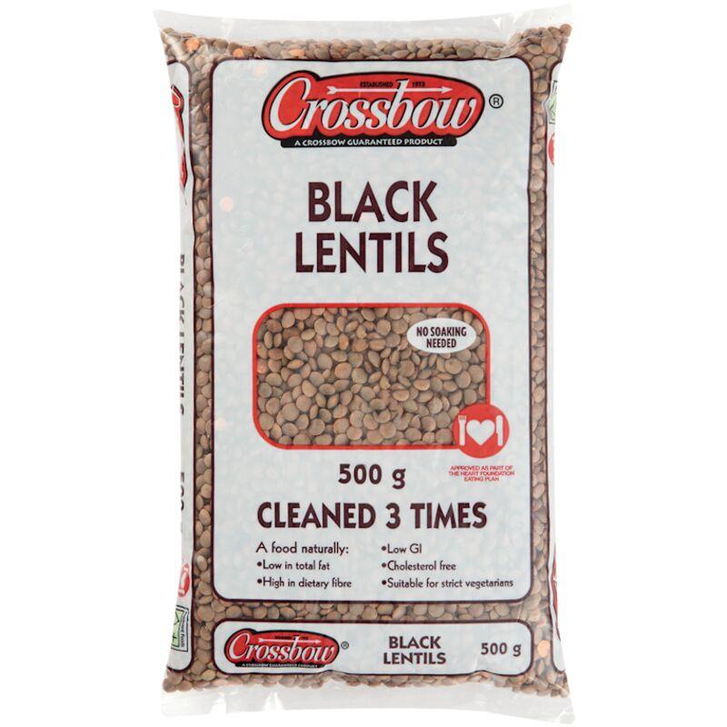 CROSSBOW LENTILS BLACK – 500G