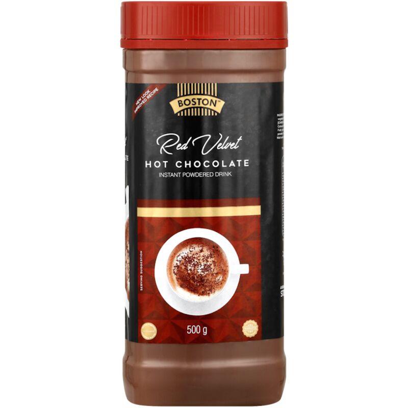 BOSTON HOT CHOCOLATE RED VELVET JAR – 500G