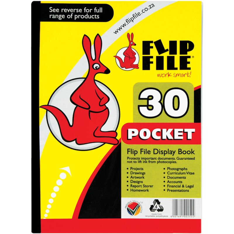 FLIPFILE A4 KANGAROO 30PAGES – 1S