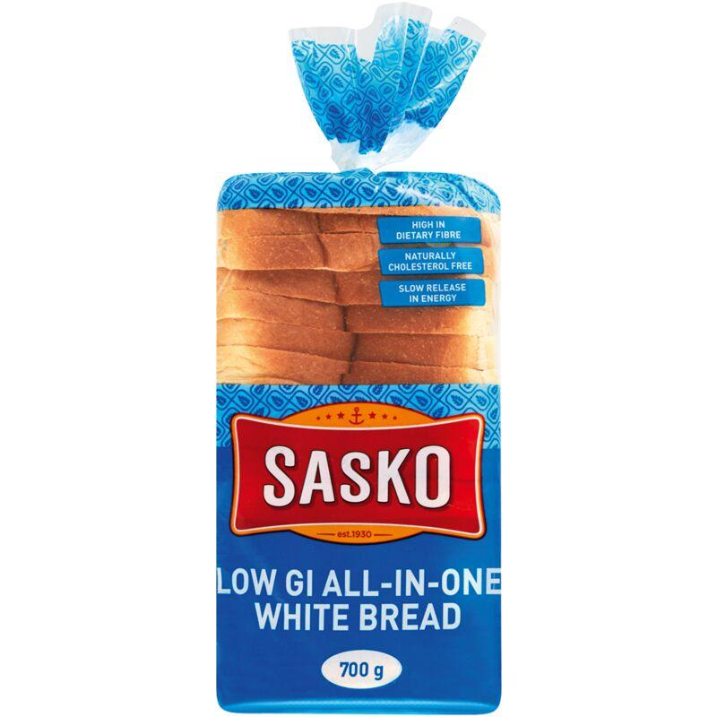 SASKO BREAD WHITE LOW GI ALL IN ONE – 700G