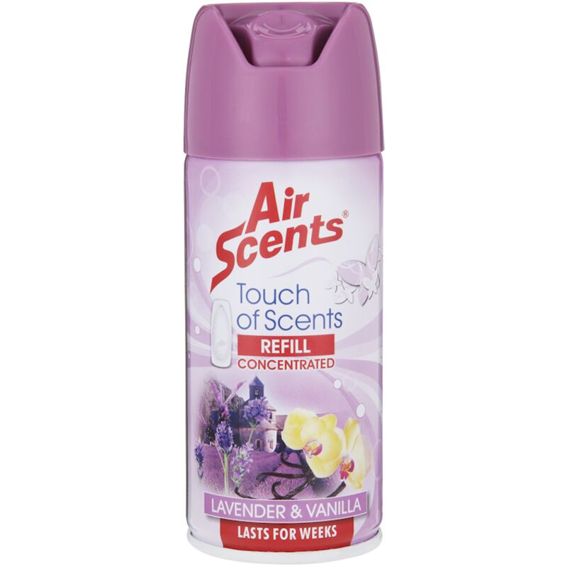 AIR SCENTS TOUCH OF SCENTS LAVENDER VANILLA REFILL – 100ML