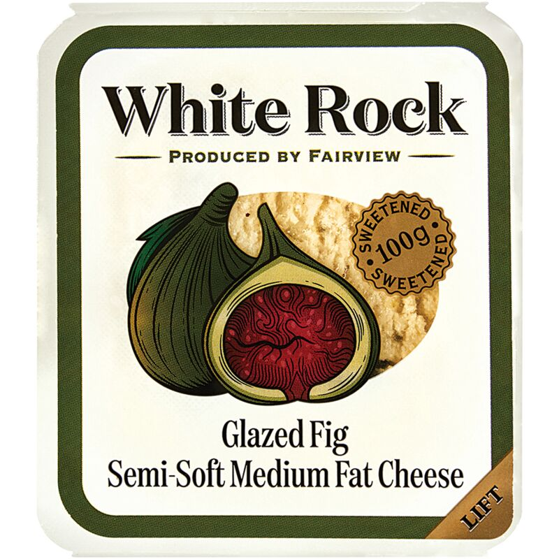 FAIRVIEW CREAM CHEESE WHITE ROCK WITH FIGS – 100G