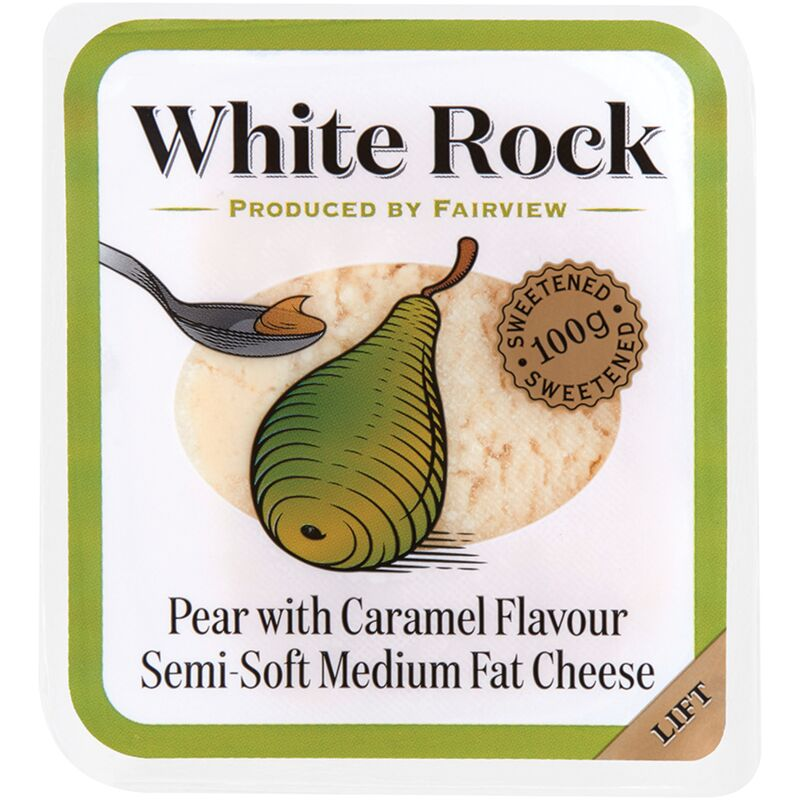 FAIRVIEW CHEESE WHITE ROCK WITH PEAR CARAMEL – 100G
