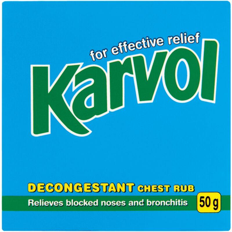 KARVOL DECONGESTANT CHEST RUB – 50G