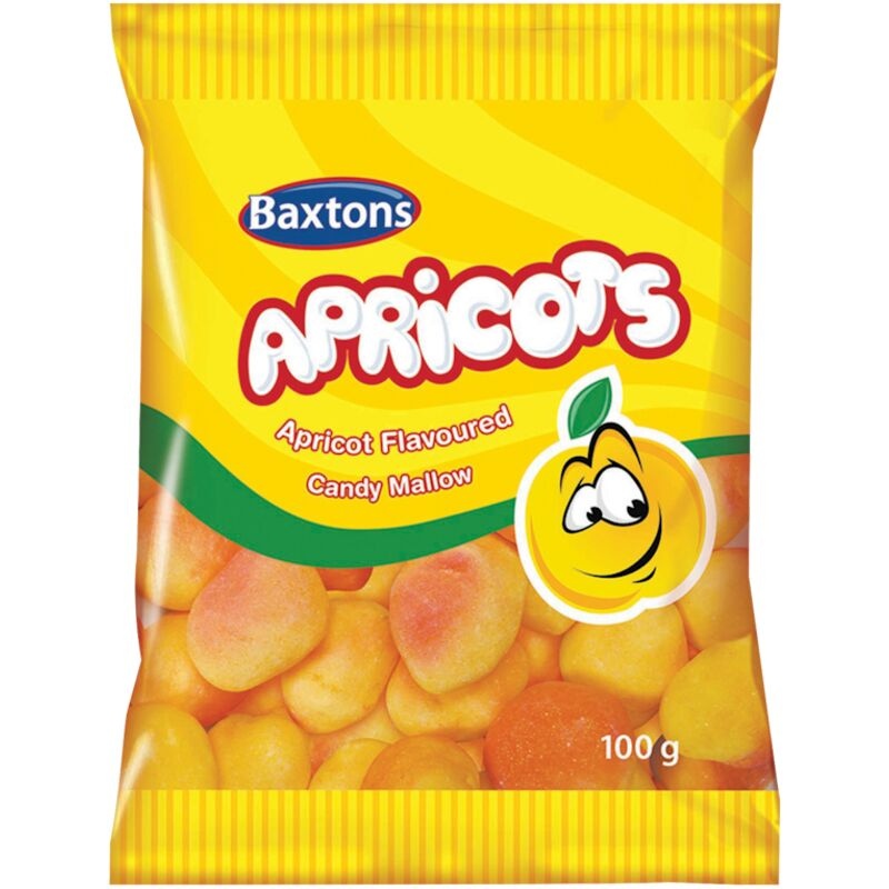 BAXTONS SWEETS APRICOTS – 100G