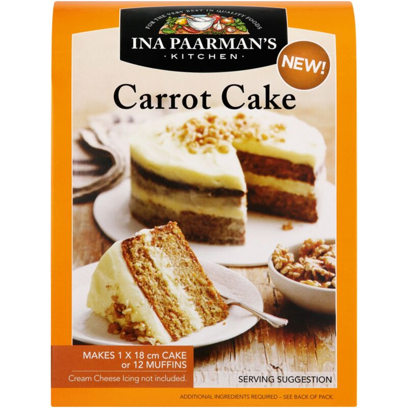 INA PAARMANS CAKE MIX CARROT CAKE – 595G