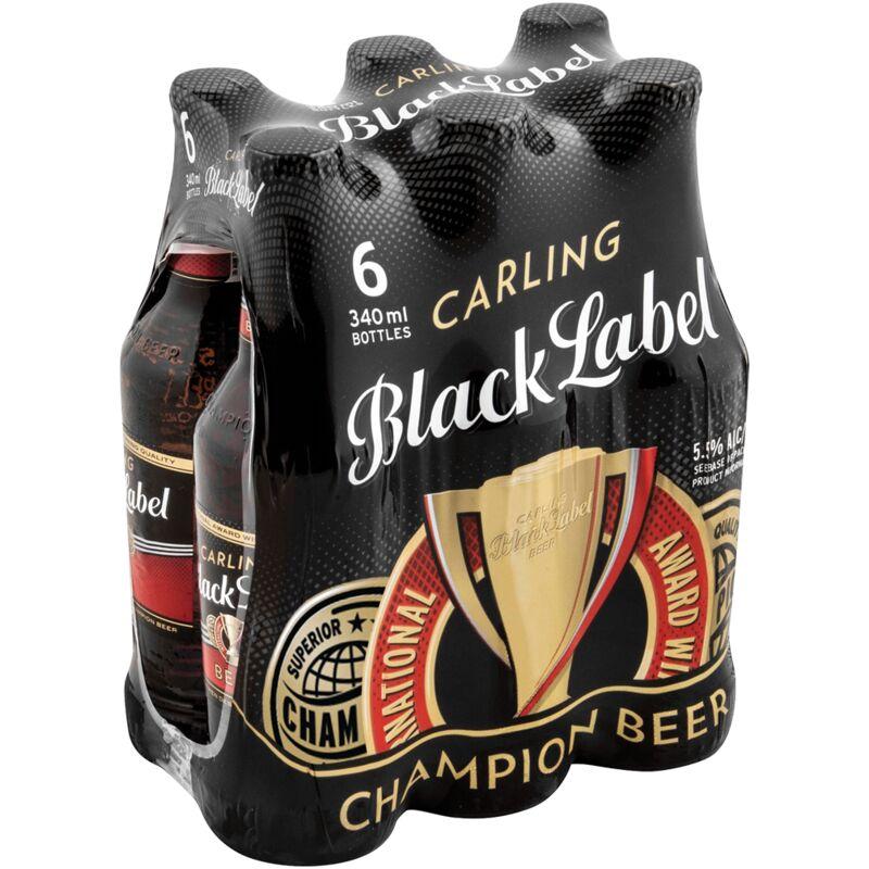 CARLING BLACK LABEL NRB – 340ML X 6