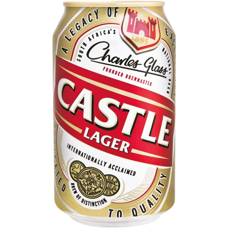CASTLE LAGER CAN – 330ML