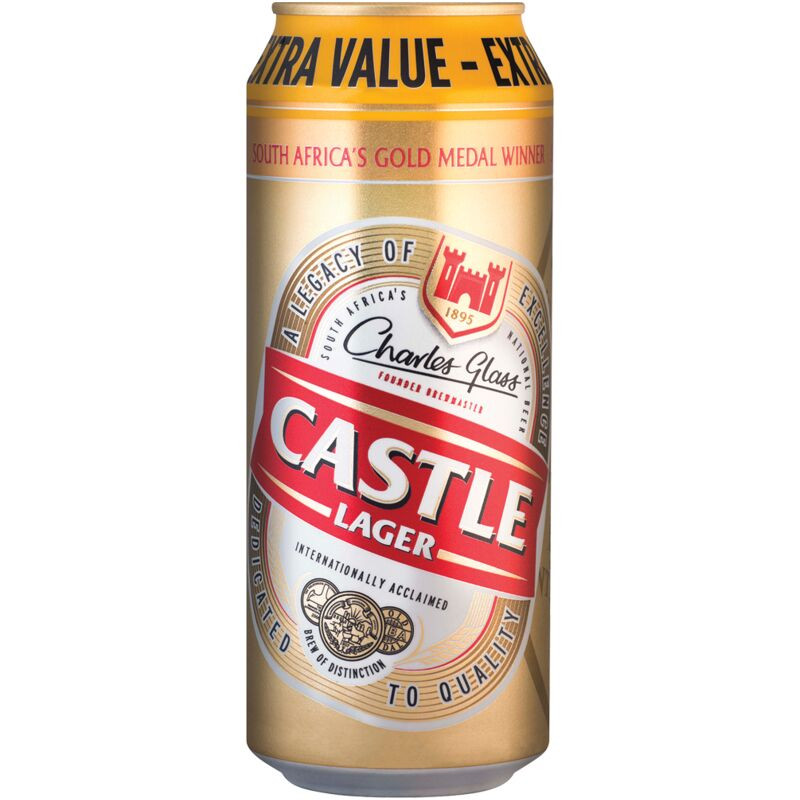 CASTLE LAGER CAN – 500ML