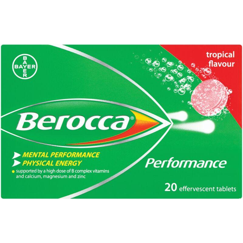 BEROCCA EFFERVESCENT TROPICAL – 20S