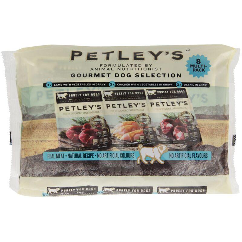 PETLEYS ADULT DOG FOOD GOURMET MULTI PACK 8S – 8S