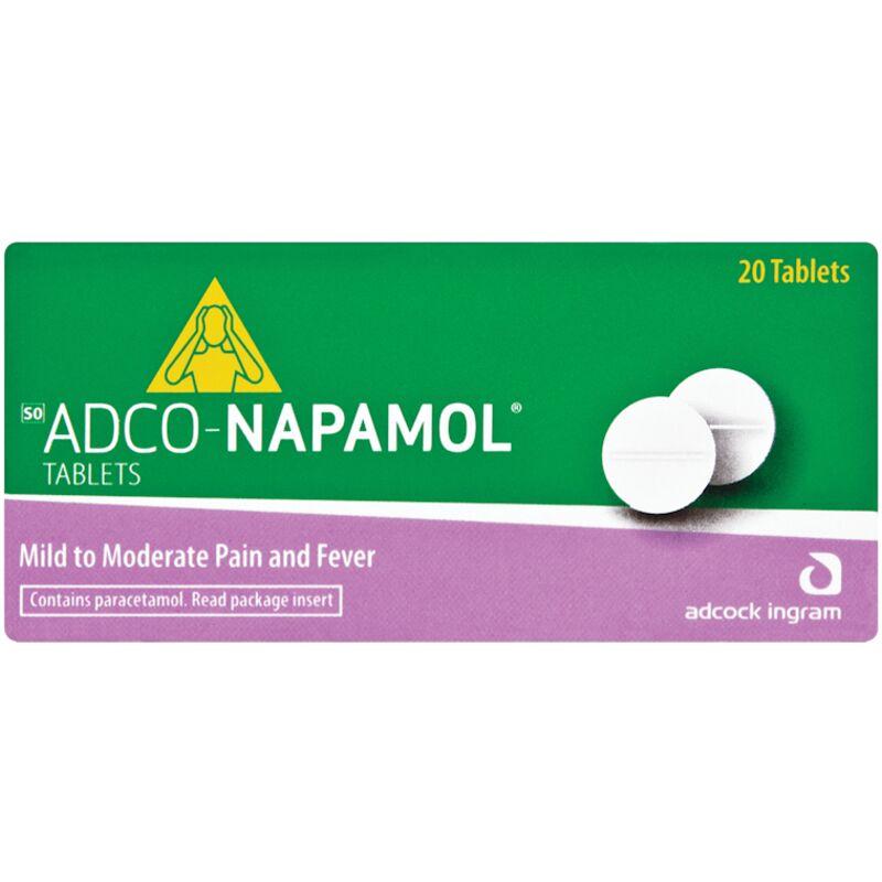 ADCO NAPAMOL PARACETAMOL ANALGESIC – 20S