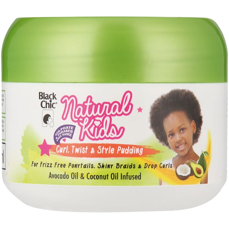 BLACK CHIC NATURAL KIDS CURL TWIST & STYLE PUDDING – 125ML