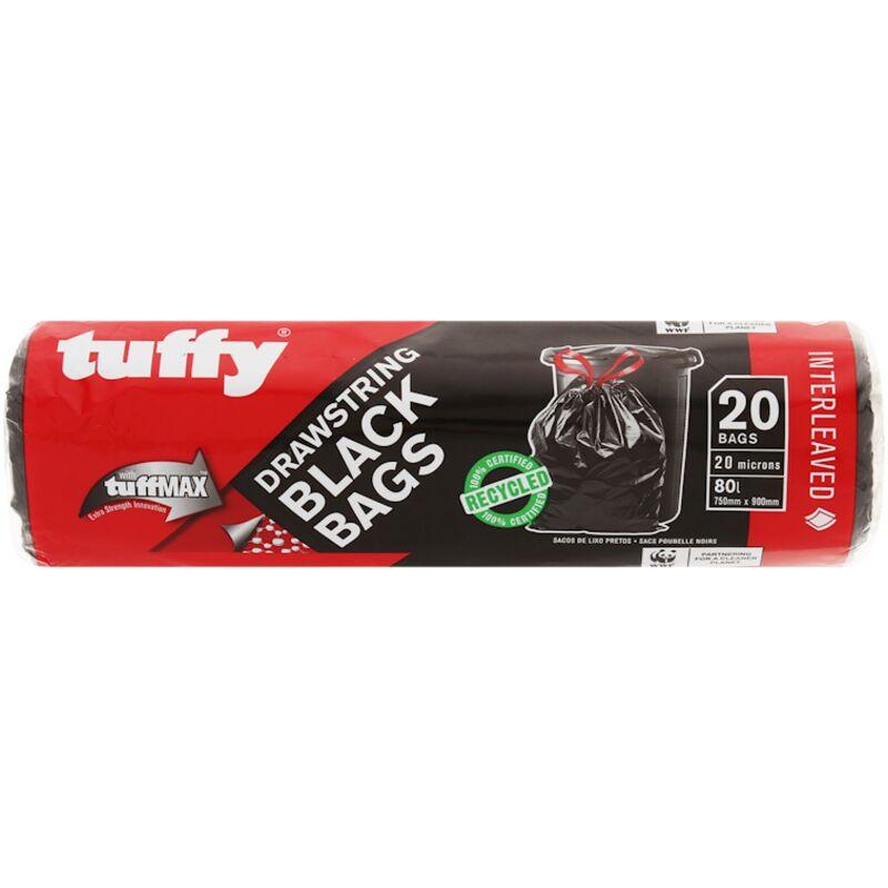 TUFFY BLACK BAGS INTERLEAVED DRAWSTRING 20S – 20S