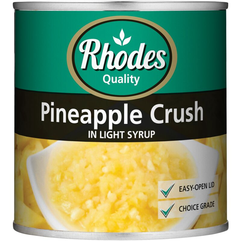 RHODES PINEAPPLE CRUSH IN LIGHT SYRUP – 432G