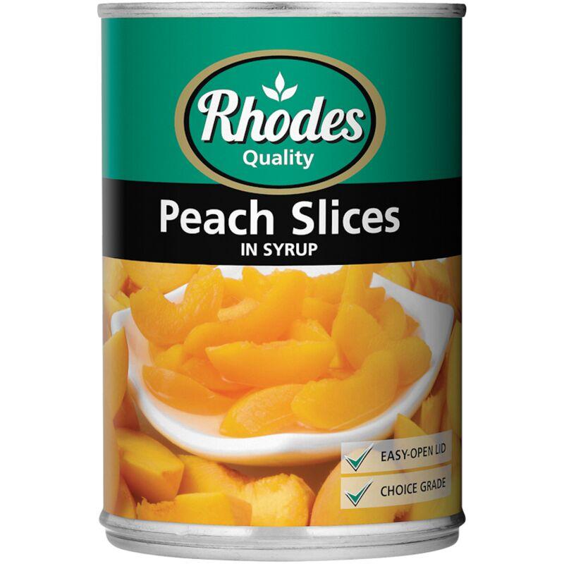 RHODES PEACH SLICES IN SYRUP – 410G