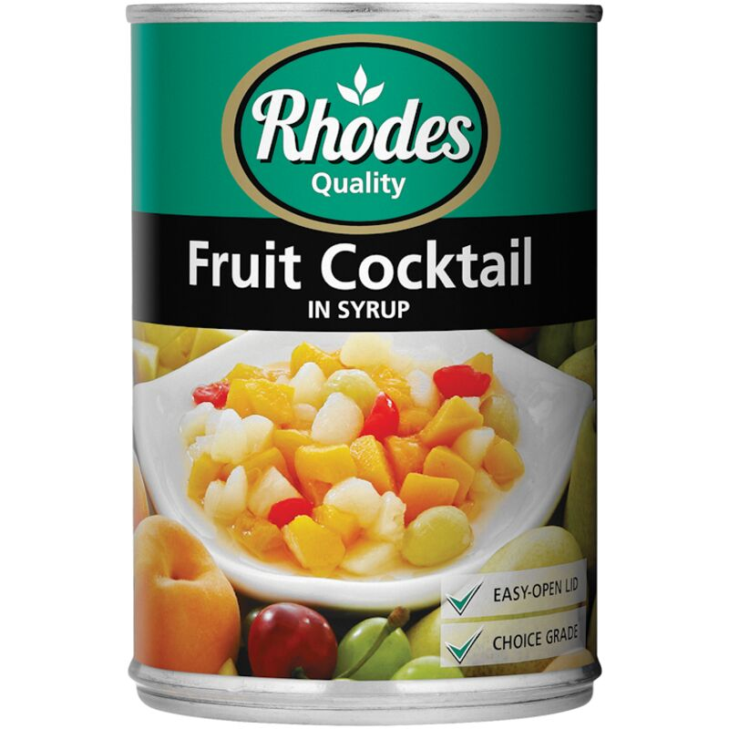RHODES FRUIT COCKTAIL IN SYRUP – 410G