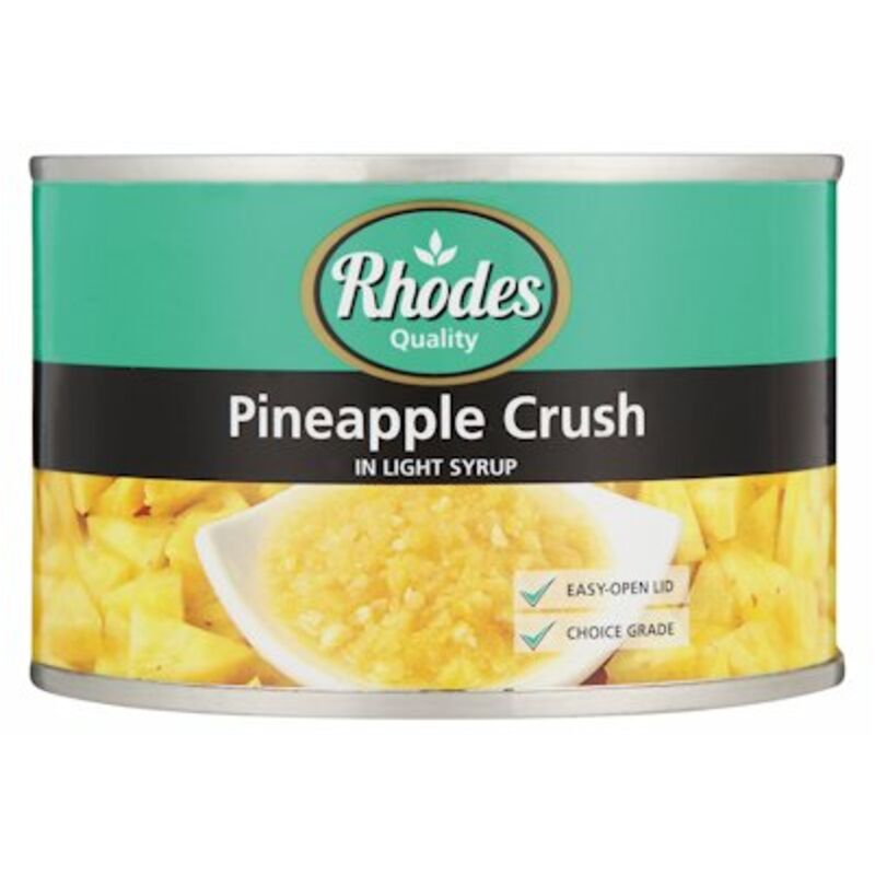 RHODES CANNED PINEAPPLE CRUSHED – 227G