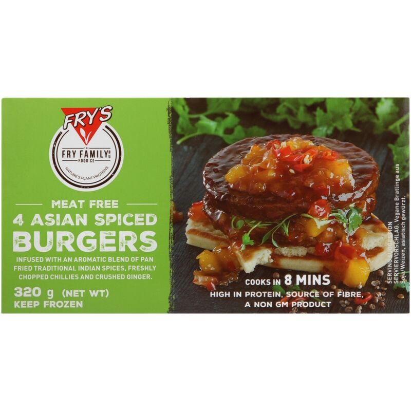 FRYS FOODS VEGETARIAN SPICED BURGER – 320G