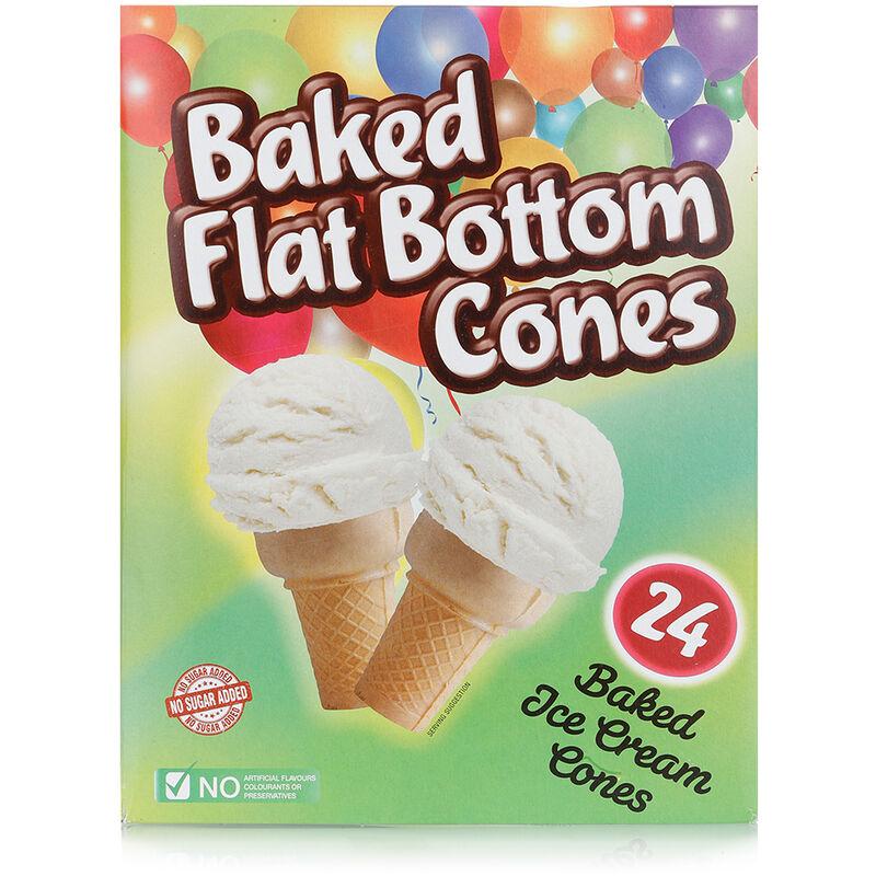 HONEYFIELDS BAKED FLAT BOTTOM CONES – 24S