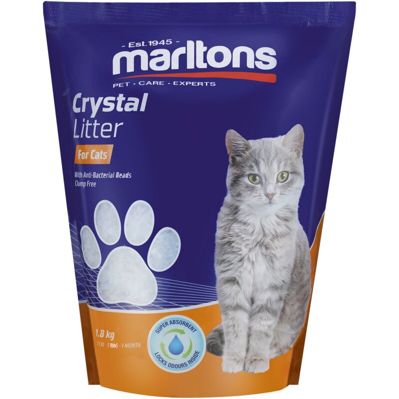 MARLTONS CAT LITTER CRYSTALS – 1.8KG