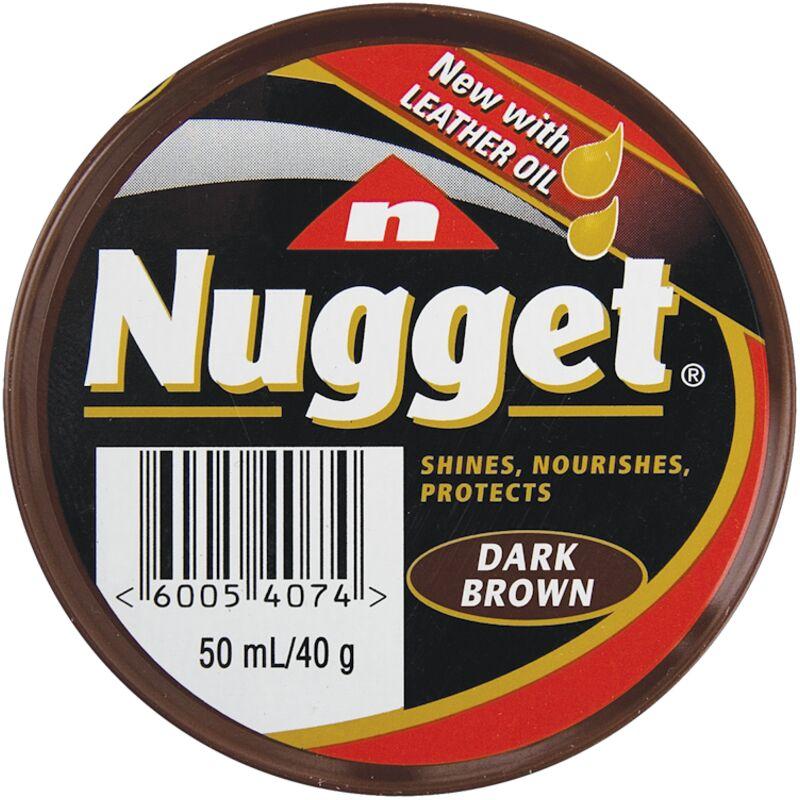 NUGGET SHOE POLISH DARK BROWN – 50ML