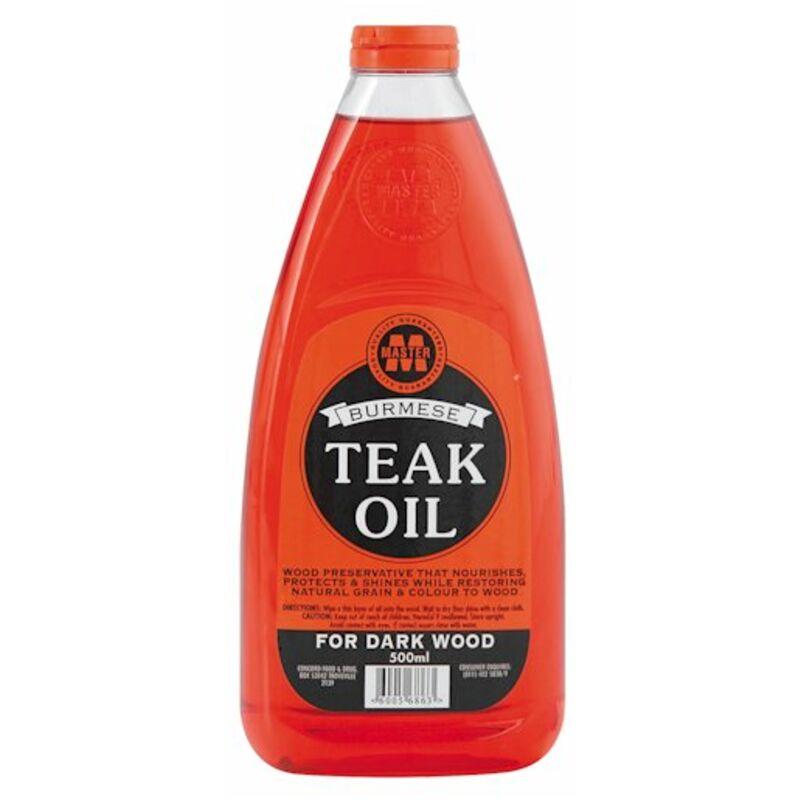 MASTER BURMESE TEAK OIL FOR DARK WOOD RED – 500ML