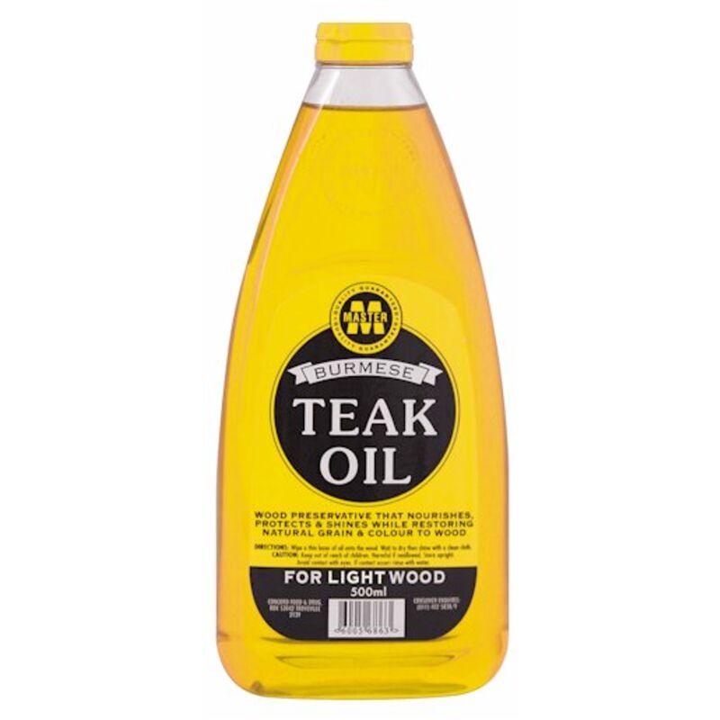 MASTER BURMESE TEAK OIL FOR LIGHT WOOD NATURAL – 500ML