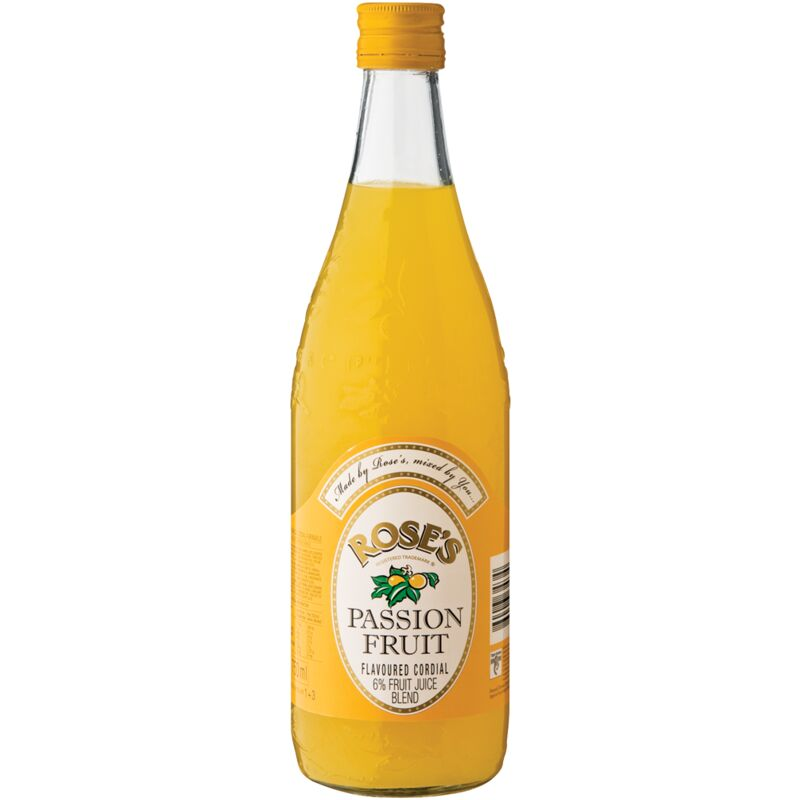 ROSES PASSION FRUIT CORDIAL – 750ML
