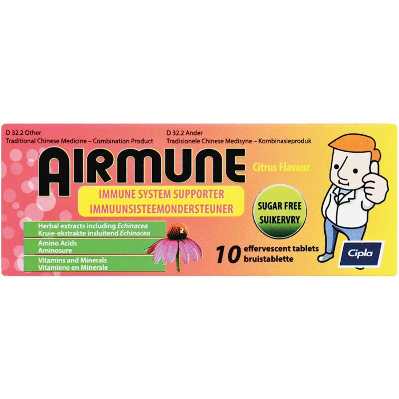 AIRMUNE TABLETS COLD FLU EFFERVESCENT – 10S