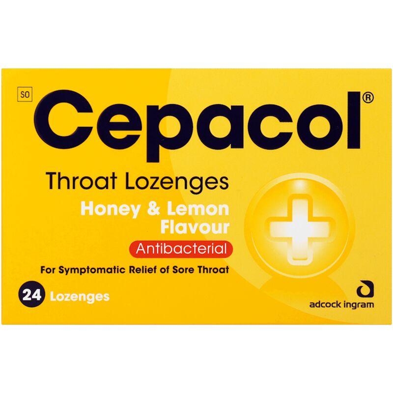 CEPACOL HONEY & LEMON LOZENGES – 24S
