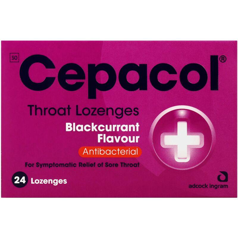 CEPACOL BLACK CURRANT LOZENGES – 24S