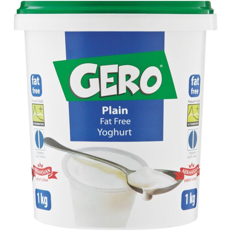 GERO FAT FREE SMOOTH YOGHURT PLAIN – 1L