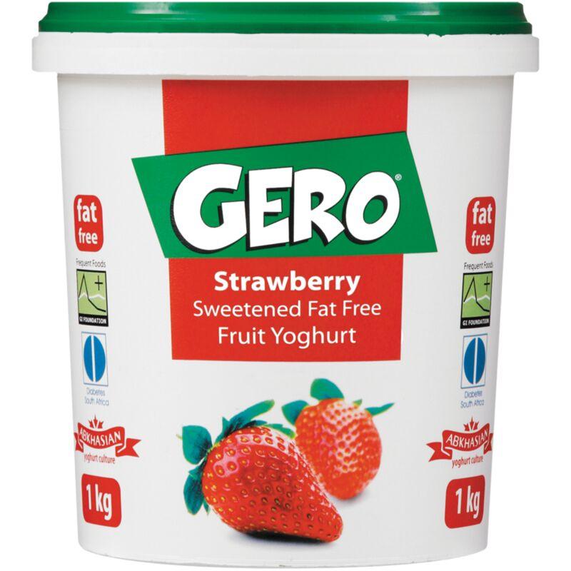 GERO FAT FREE YOGHURT STRAWBERRY – 1L