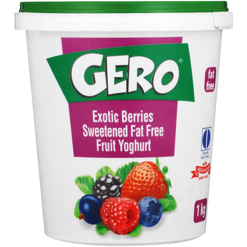 GERO FAT FREE YOGHURT EXOTIC BERRIES – 1L