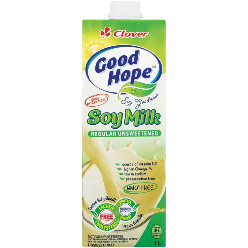 GOOD HOPE SOYA MILK UNSWEETENED – 1L