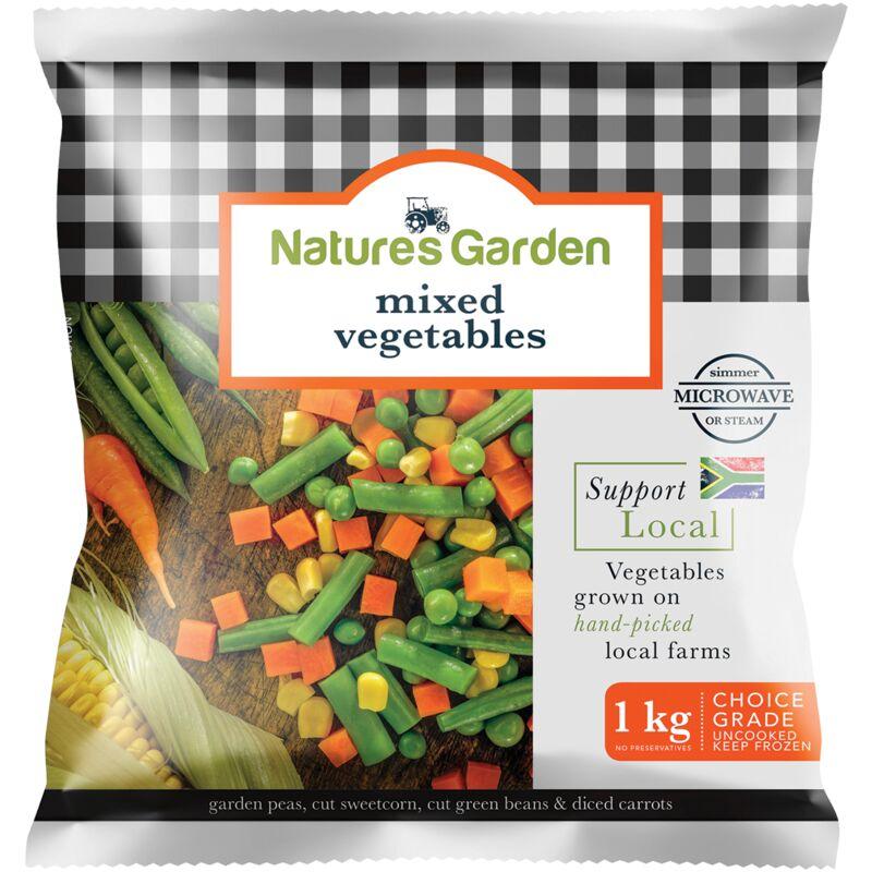 NATURES GARDEN MIXED VEGETABLES – 1KG