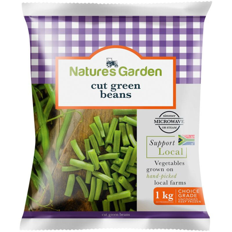 NATURES GARDEN CUT GREEN BEANS – 1KG