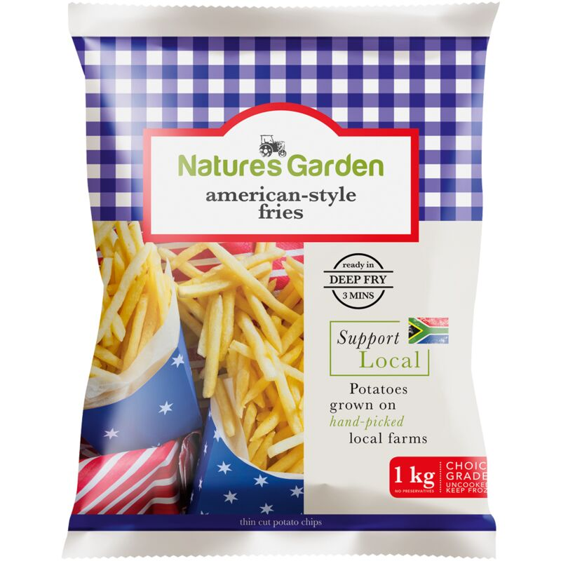 NATURES GARDEN AMERICAN STYLE FRIES – 1KG