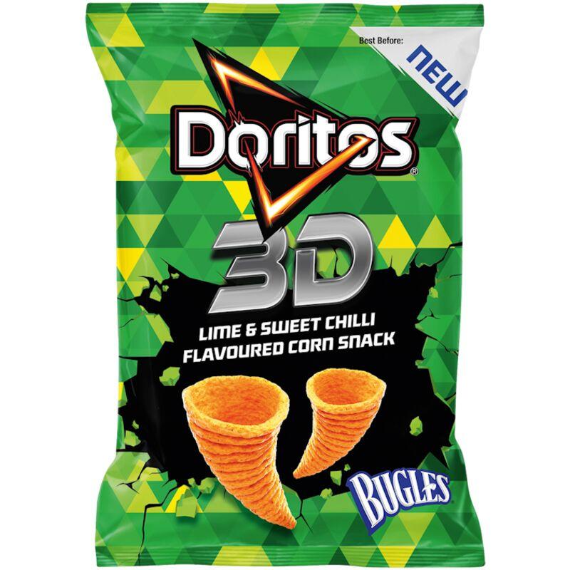 DORITOS CHIPS 3D BUGLES LIME SWEET CHILLI – 100G