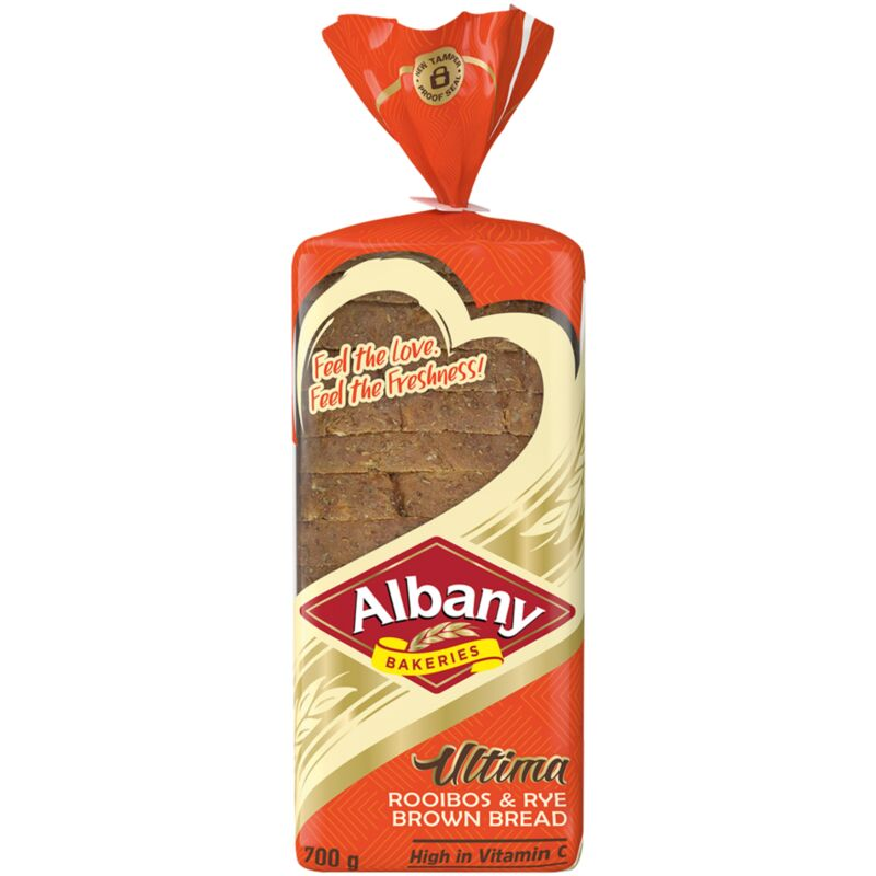 ALBANY BREAD ULTIMA BROWN ROOIBOS RYE – 700G