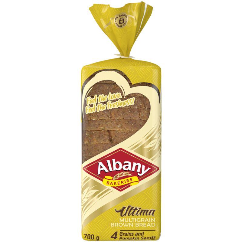 ALBANY BREAD ULTIMA BROWN MULTIGRAIN – 700G