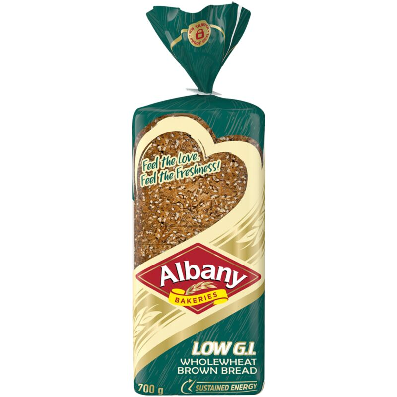 ALBANY BREAD SUPERIOR WHOLE WHEAT BROWN LOW GI – 800G