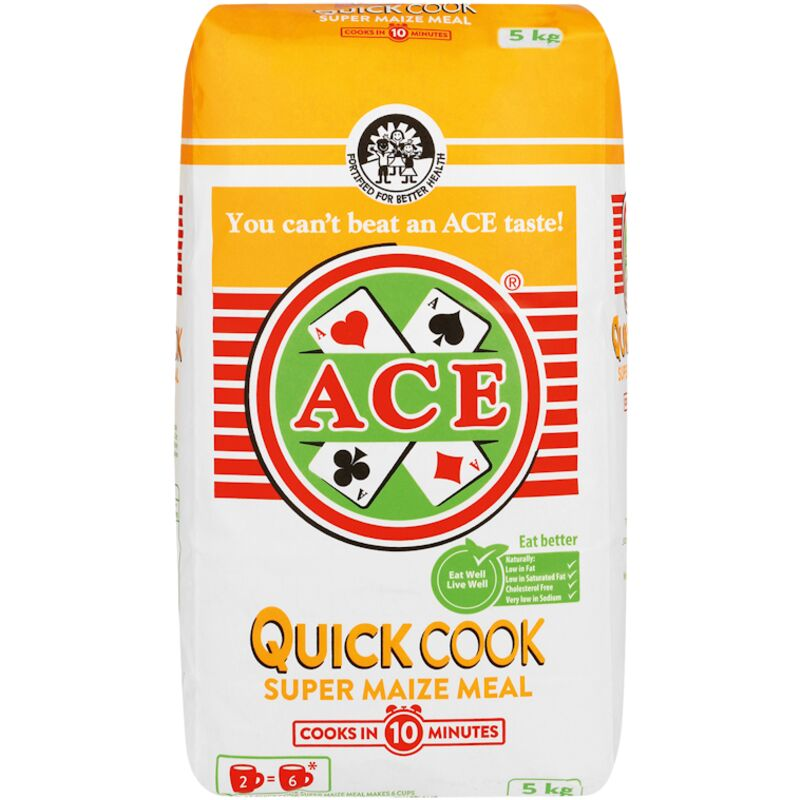 ACE SUPER MAIZE MEAL QUICK COOKING – 5KG