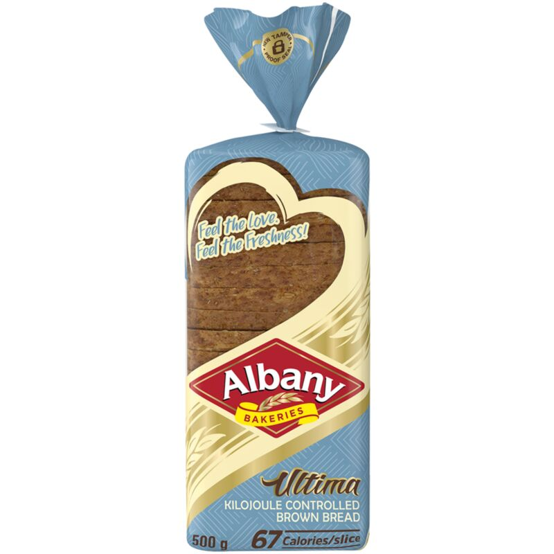 ALBANY ULTIMA BROWN BREAD KILOJOULE CONTROLLED – 500G