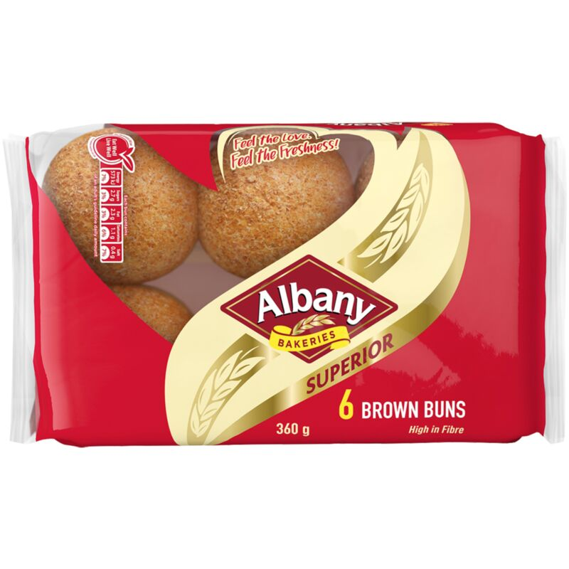 ALBANY SUPERIOR BUNS BROWN – 360G