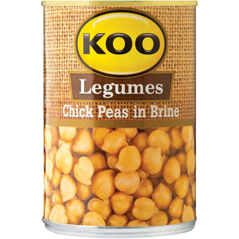 KOO TINNED CHICK PEAS IN BRINE – 400G